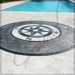 Réaliser une plage de piscine en Béton Imprimé