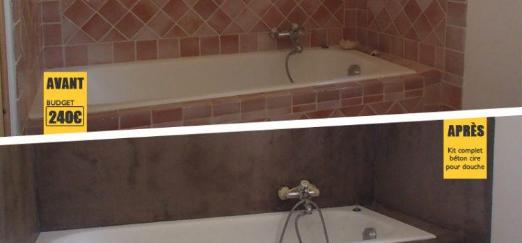 Béton ciré : Un avant/après impressionnant dans une salle de bain