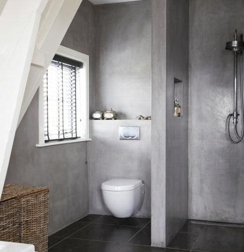 Refaire sa salle de bain en b ton cir sp cialiste des b tons d coratifs - Beton cire salle de bains ...