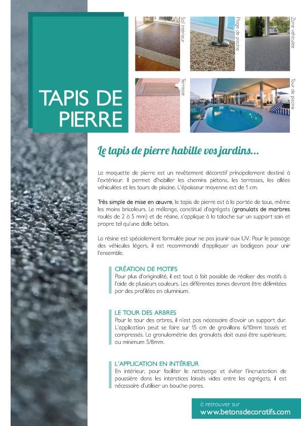Tout Savoir Sur Le Tapis De Pierre Produit Mise En Oeuvre Et Photos - Carrelage terrasse et tapis protection piscine