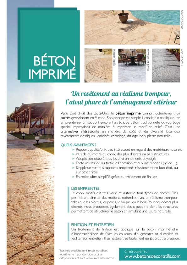 Bton Imprim Pour Amnagements Extrieurs