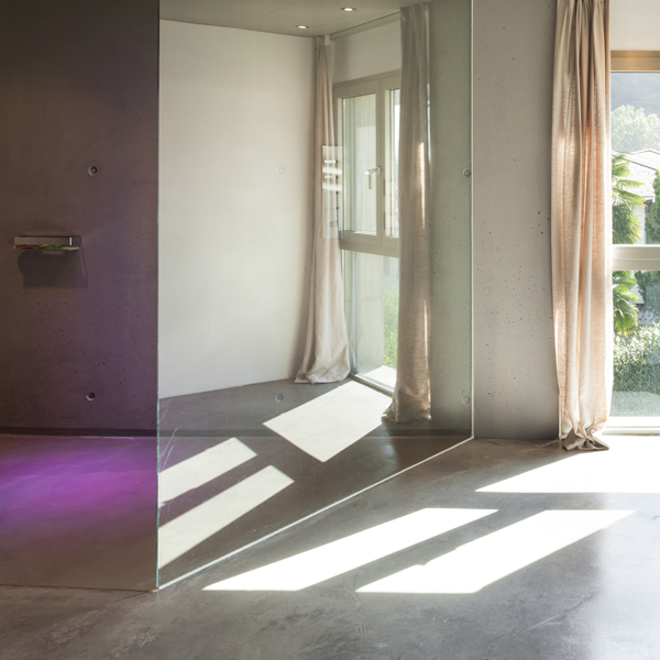 Modern design, interior house, wide bathroom